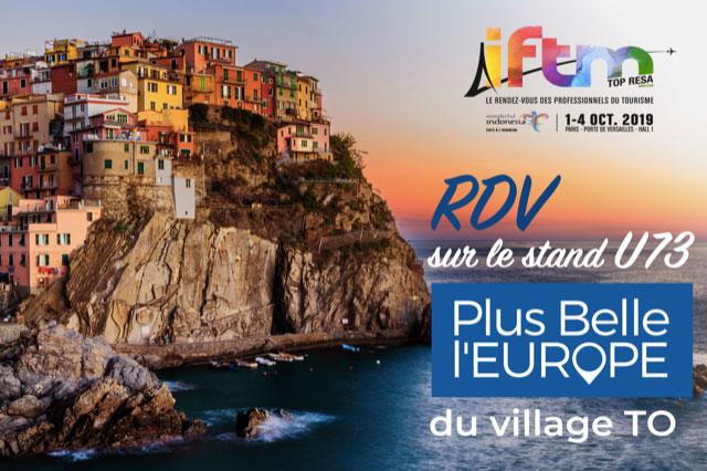 Découvrez le riche programme de PLUS BELLE L'EUROPE à l'IFTM (Stand U73, village TO)