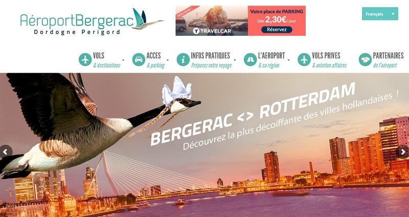 un double partenariat entre TravelCar, l'aéroport de Bergerac et Chalair a été signé - Crédit photo : Aéroport de Bergerac