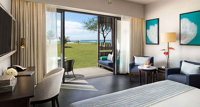 Vue depuis une chambre de l'Anantara Iko Mauritius Resort & Villas