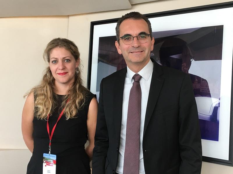 Cécile Morel, responsable du marché France et Fabien Soulet, CEO de TGV Lyria - DR : CL