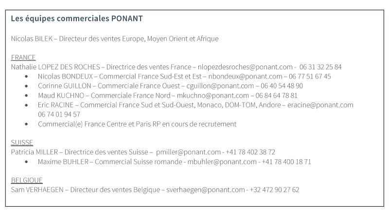 Ponant : Nathalie Lopez Des Roches prend la direction des ventes en France
