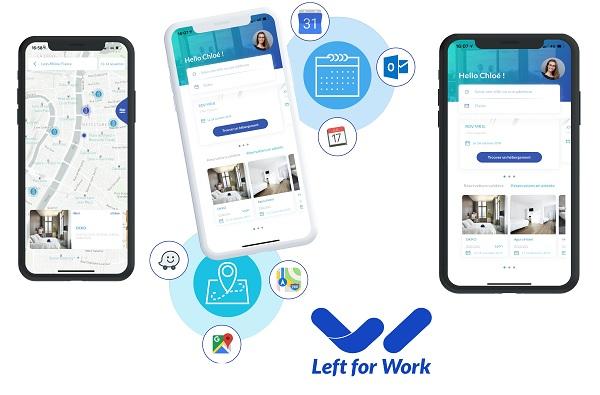 Left for Work a sorti une application simple d'usage tout en réutilisant les codes actuels - Crédit photo : Left for Work