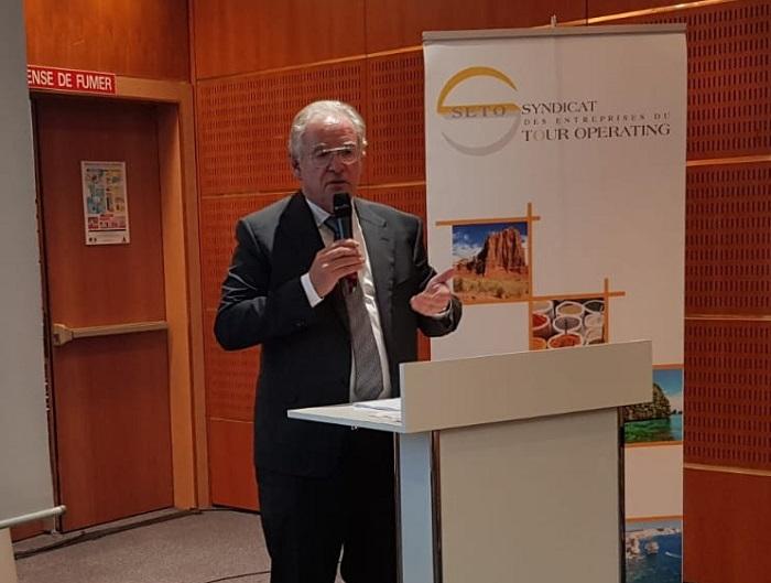 René-Marc Chikli, président du SETO a présenté le baromètre de l'été et de l'hiver - DR