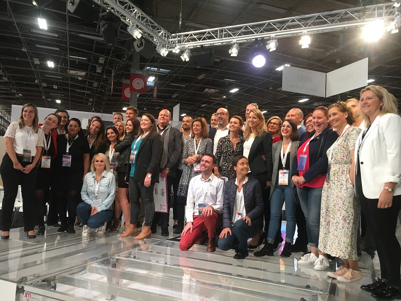 Dix candidats se sont affrontés jeudi 3 octobre 2019, lors de l'IFTM Top Resa, pour remporter la Travel Agent Cup. Florent Sepaniac, agent de voyages chez Carrefour Voyages à Givors (Rhône) a été élu meilleur agent de voyages de France. - CL