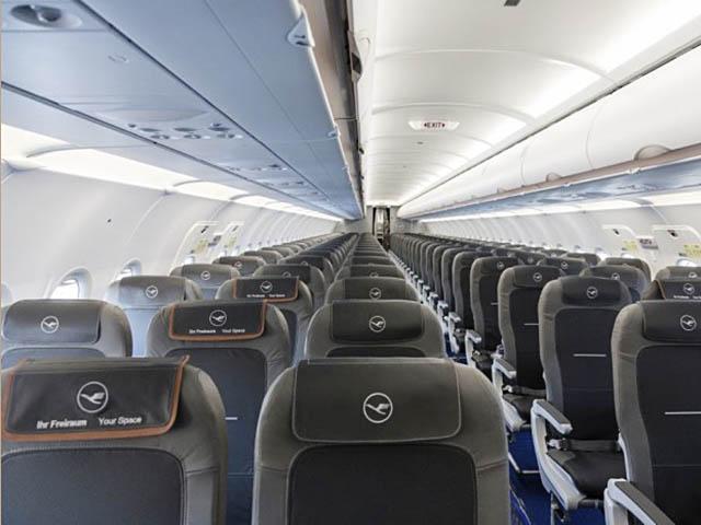 A l'intérieur d'un A320neo de chez Lufthansa ©Luftansa