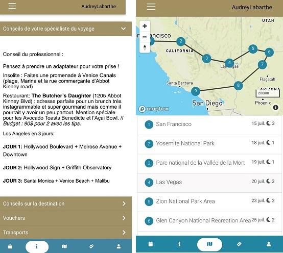 Copies d'écran de la version Premium d'Euram sur téléphone mobile - DR
