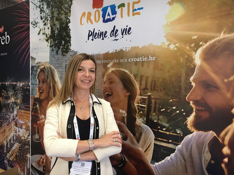Danijela Mihalic Durica, directrice de l'Office National Croate du Tourisme en France, lors de l'édition 2019 de l'IFTM Top Resa - DR : C.L.
