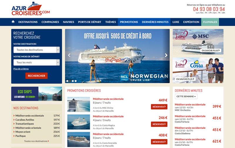 Site internet Azur-Croisieres.Com