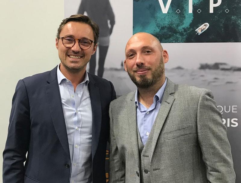 Axel Mazerolles (à gauche) avec Raphaël Auvray le nouveau directeur de production - DR