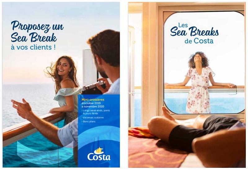 Sous un format de 12 pages, ces dépliants proposent 45 formules de vacances différentes - DR : Costa Croisières