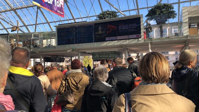 C'est l'affluence dans les gares parisiennes - DR