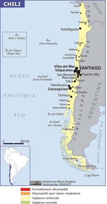 Chili : l'état d'urgence déclaré à Santiago et à Valparaíso
