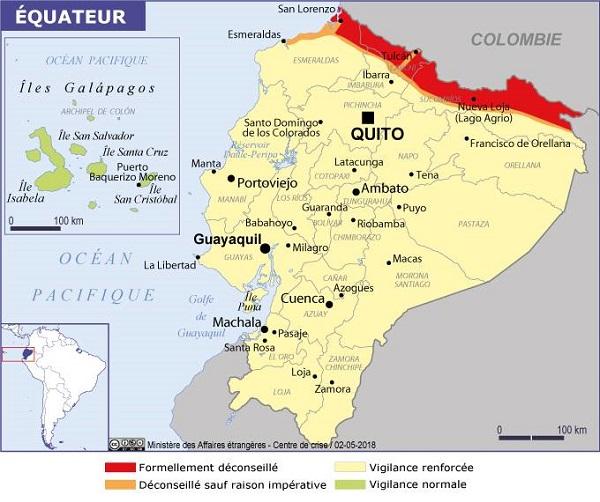 Instauré le 3 octobre 2019 en Equateur, l'état d'exception a été maintenu jusqu'au 3 novembre 2019 - Crédit photo : France Diplomatie