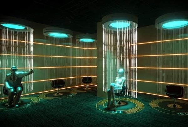 Embarquant dans un centre de téléportation, les touristes seront plongés grâce à la réalité virtuelle et augmentée - Crédit photo : FlyView