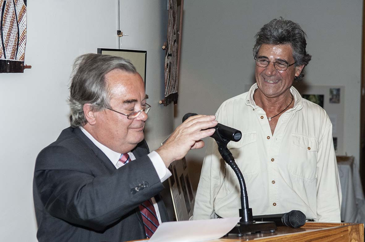 François Giner avec le regretté J.-P. Chantraine, président d'ASIA /photo dr