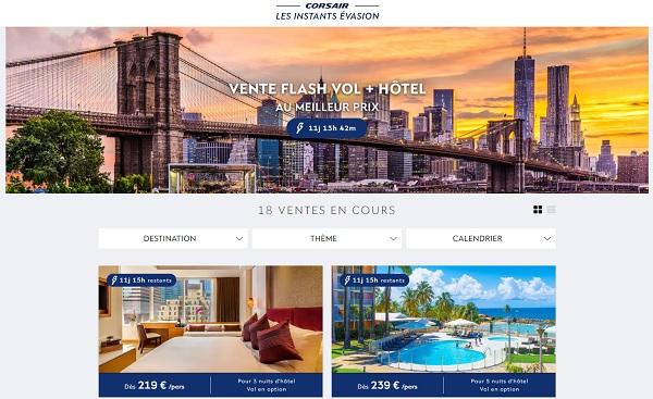 Corsair veut-il transformer son site internet en agence de voyages en ligne ?