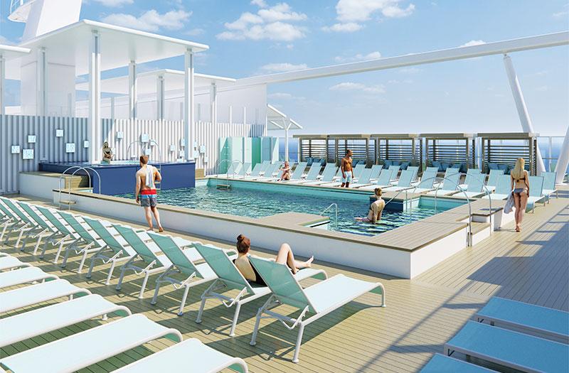 Le Costa Smeralda est doté de 4 piscines - DR Costa Croisières