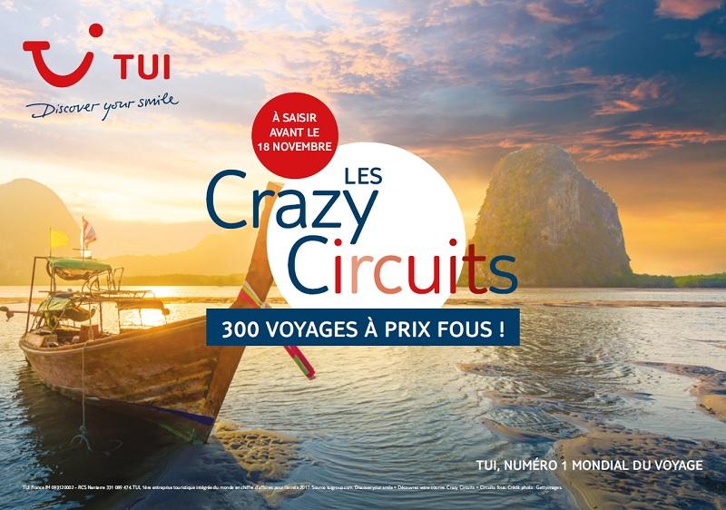 TUI donne le coup d'envoi de son opération « Les Crazy Circuits »