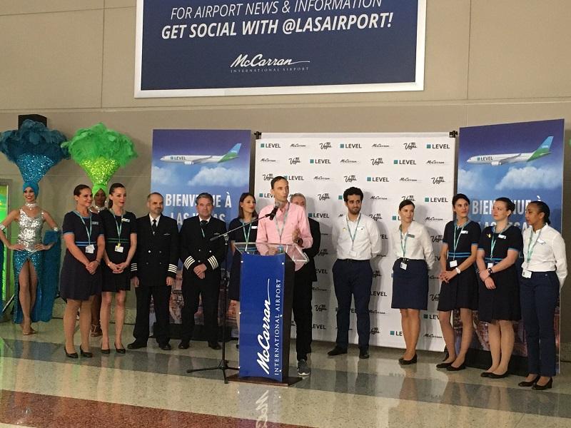 Mercredi 30 octobre 2019, la compagnie Level a inauguré son vol direct Paris/Las Vegas. - DR : CL.
