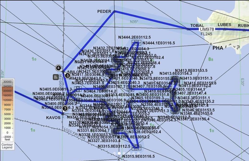 2 heures ont été nécessaires pour réaliser la prouesse de dessiner une silhouette de 747 dans le ciel ©DR