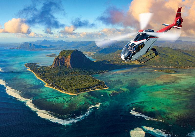 Ile Maurice - Péninsule du Morne et cascade sous-marine – Corail Hélicoptère