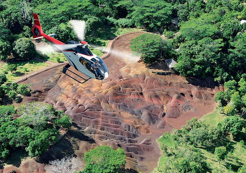 Ile Maurice – Terre des Sept Couleurs  – Corail Hélicoptère