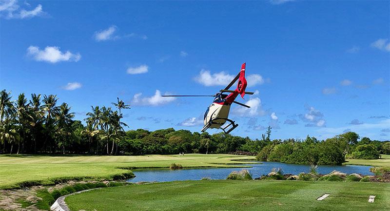 Ile Maurice – Héli-golf  – Corail Hélicoptère