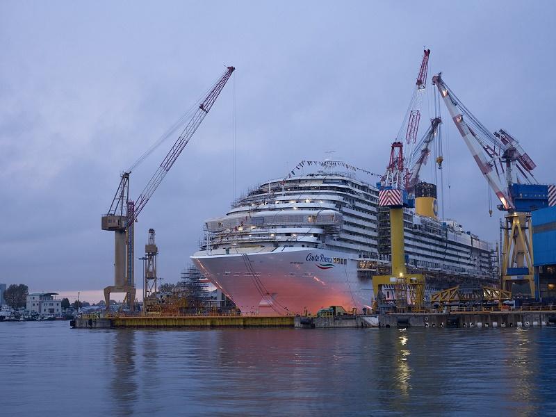 Après sa livraison, prévue le 30 septembre 2020, le Costa Firenze mettra le cap sur Singapour - DR : Costa Croisières