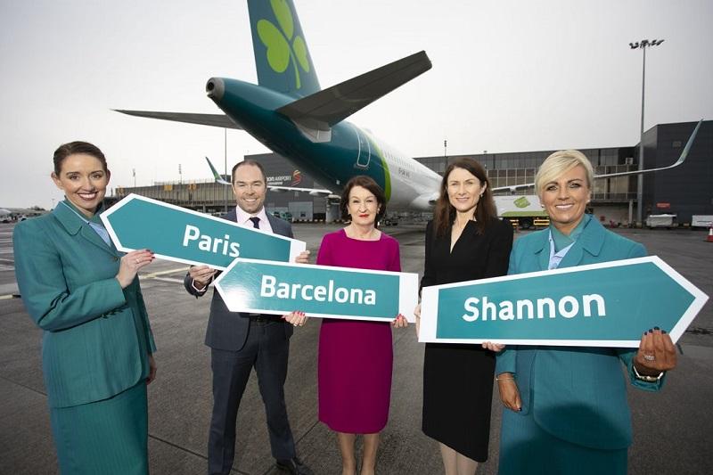 Aer Lingus desservira Shannon depuis Paris et Barcelone pour la saison estivale 2020 - DR : Shannon Airport