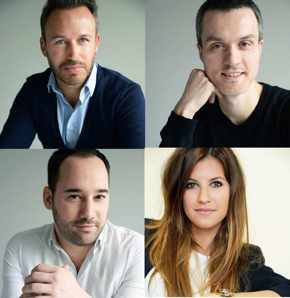 Fabrice Perdoncini, Matthieu Chevrier, Pierre Guindani et Élodie Noriant - DR