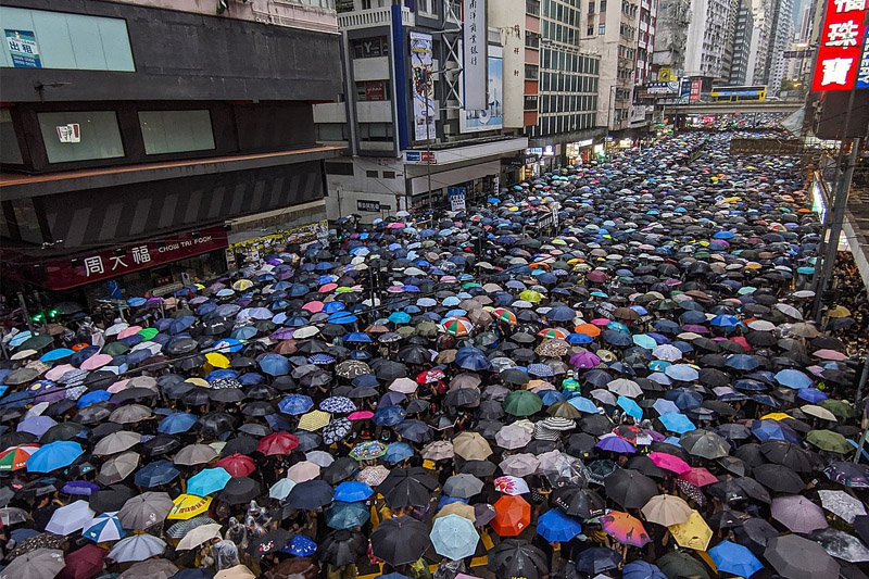 Photo prise lors des manifestations à Hong Kong - Photo Iremos