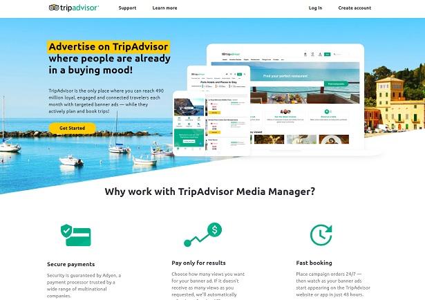 Media Manager de TripAdvisor est une plateforme publicitaire en libre-service - Crédit photo : TripAdvisor