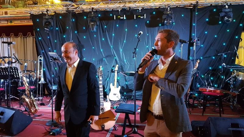 Laurent Abitbol et Aurélien Aufort directeur général du groupe Marietton - Photo CE