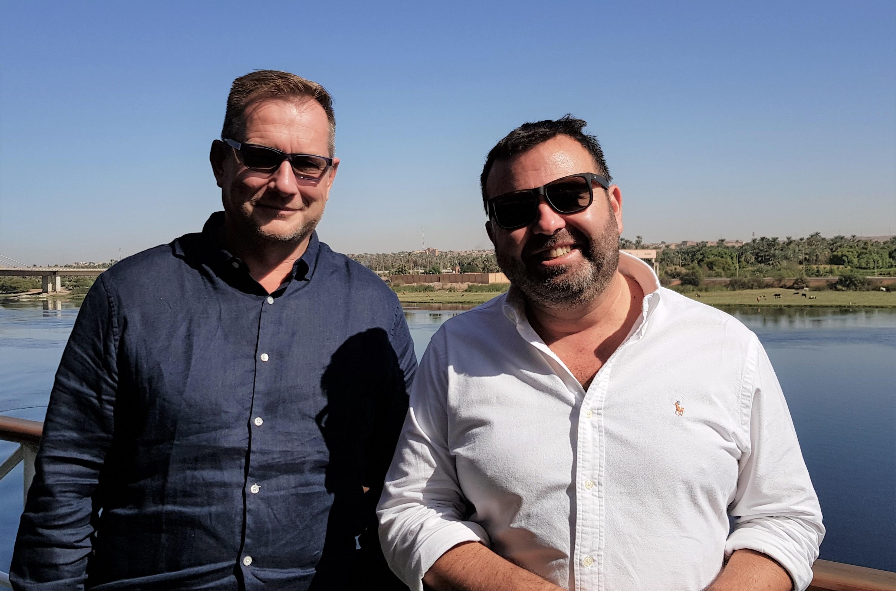 Hervé Auter et Patrick Abenin, co-associés de Travel Evasion - DR : A.B.