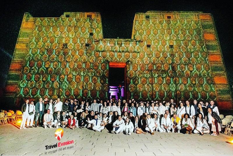 Pour cet Egyptour 2019, Travel Evasion a privatisé le temple d'Horus à Edfou, le temps d'une soirée, pour la centaine d'agents de voyages présents - DR : Travel Evasion