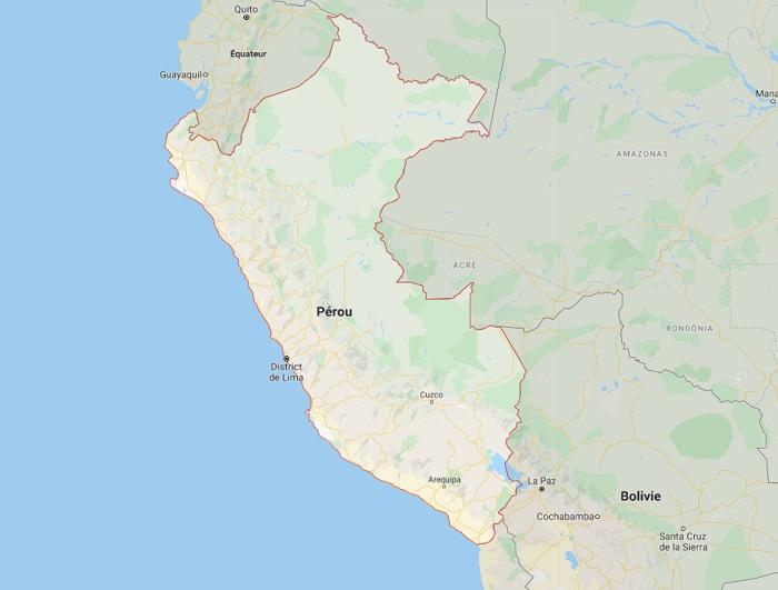 Des manifestations peuvent avoir lieu dans la région d'Arequipa en protestation au projet minier Tía María au Pérou - Photo GoogleMap