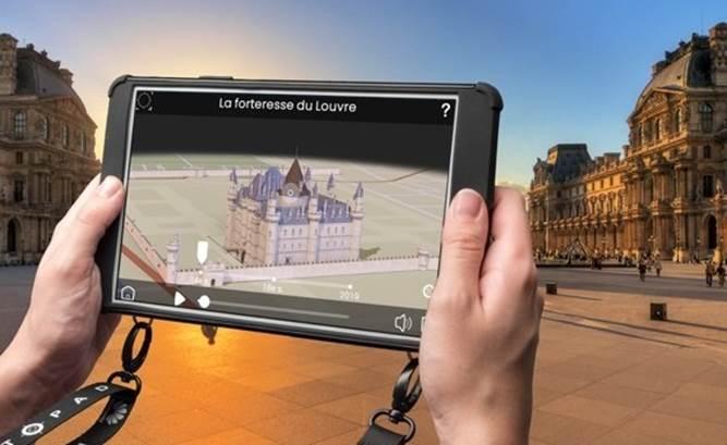 Louvre, Panthéon, Trocadéro... Au total, les visiteurs profitent de contenus inédits sur 35 sites et monuments parisiens en réalité augmentée - DR : Paris City Vision