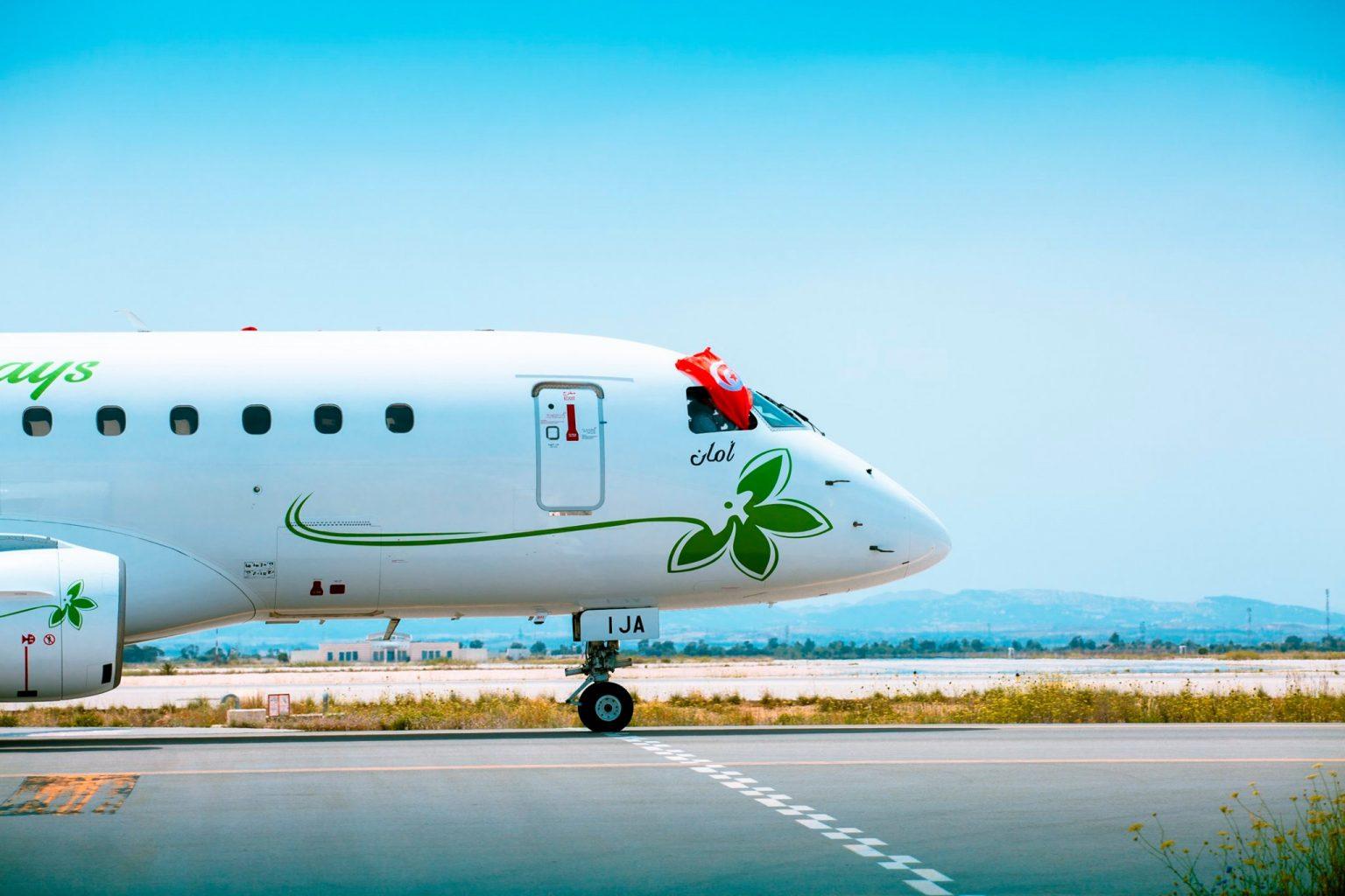 La nouvelle compagnie tunisienne débutera ses vols vers l'Europe le 20 décembre sur des Embraer © Jasmin Airways
