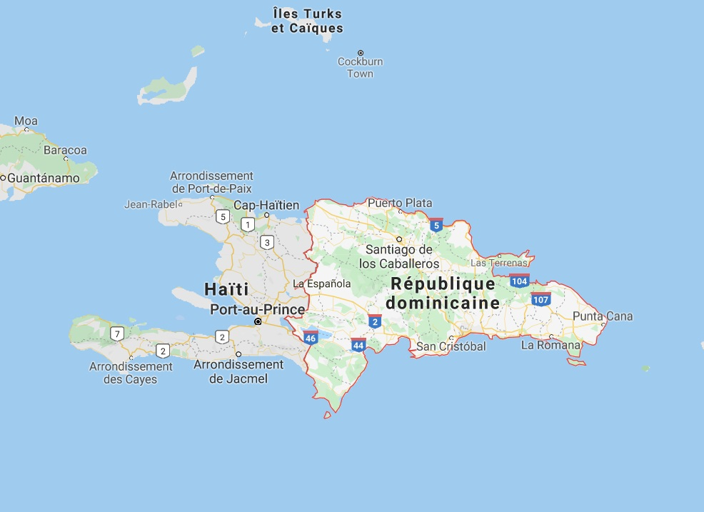 Recrudescence des cas de dengue et de paludisme en République Dominicaine - DR Google Map