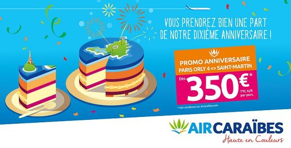 Une offre promotionnelle jusqu'au 20 décembre 2019 pour Air Caraïbes - Crédit photo : Air Caraïbes