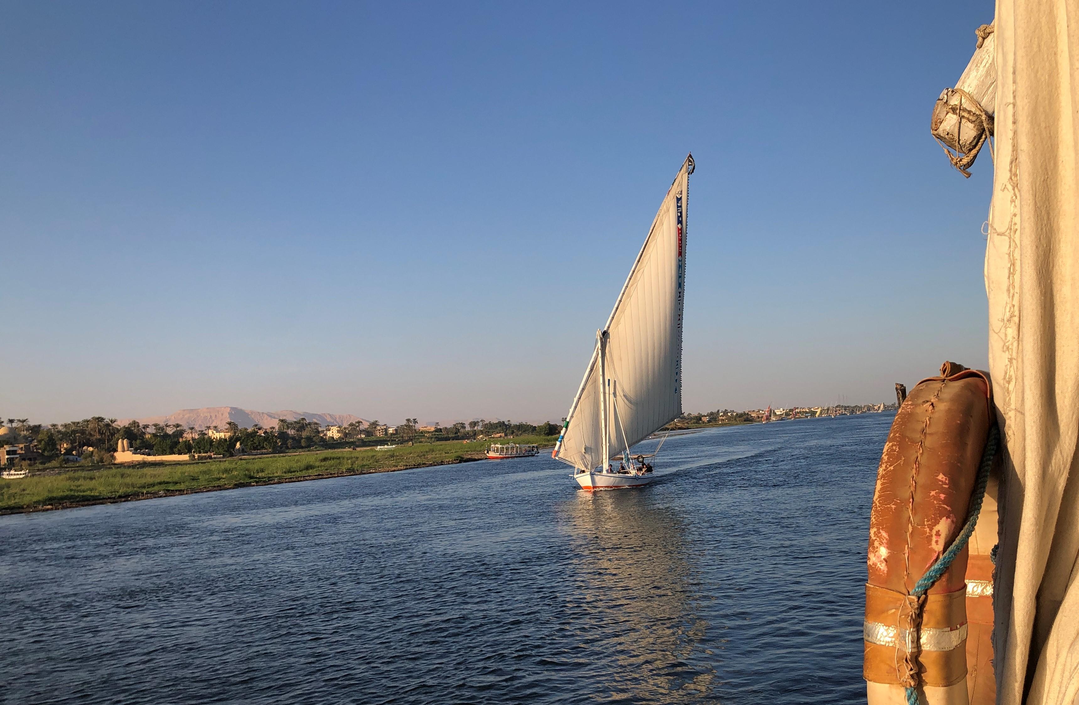 Egypt Nile Cruises propose du slow tourisme avec ses croisières en Dahabya sur le Nil... /crédit photo JDL