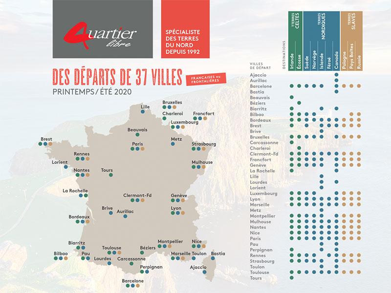 Départs régionaux : Quartier Libre toujours plus proche de vous en 2020 et 2021 !