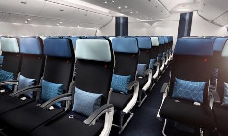 Visuel de la nouvelle cabine éco d'Air France sur le B777-300 - Crédit photo : Brandimage