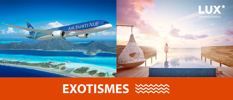 Exotismes, Air Tahiti Nui & LUX* Resorts au Salon du Ditex – Copyright Air Tahiti Nui, LUX* Resorts et Exotismes