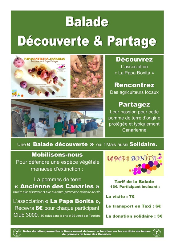 Exemple d'affiche des balades Découverte&Partage - DR : Touristra Vacances