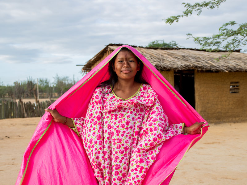 Jeune fille de la communauté Wayuu, La Guajira, Colombie (copyright Sébastien Walkowiak)