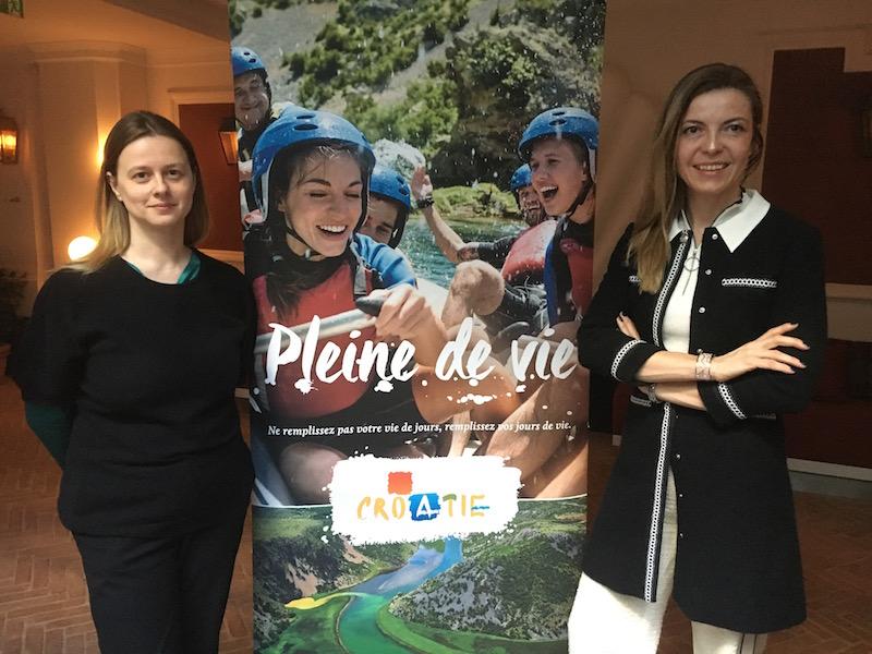 Maria Popovic, chargée des relations avec la presse et Daniel Mihâliç Durica, directrice du bureau parisien de l'office de tourisme de Croatie. - DR : CL