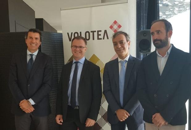 Les responsables de Volotea, de l'aéroport de Marseille et du MUCEM à Marseille - Photo CE