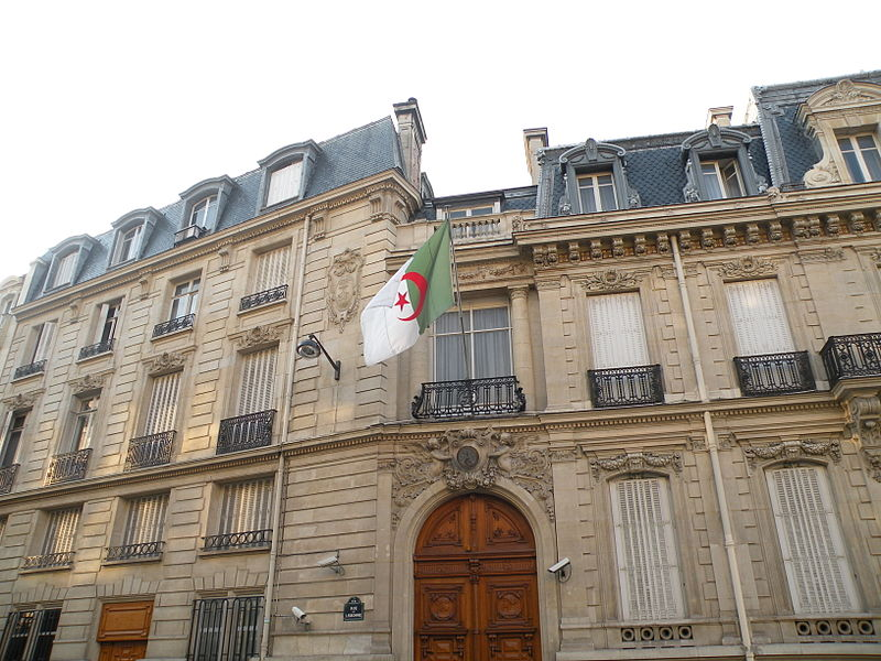 Ambassade d'Algérie en France (photo: Wikimedia Commons)