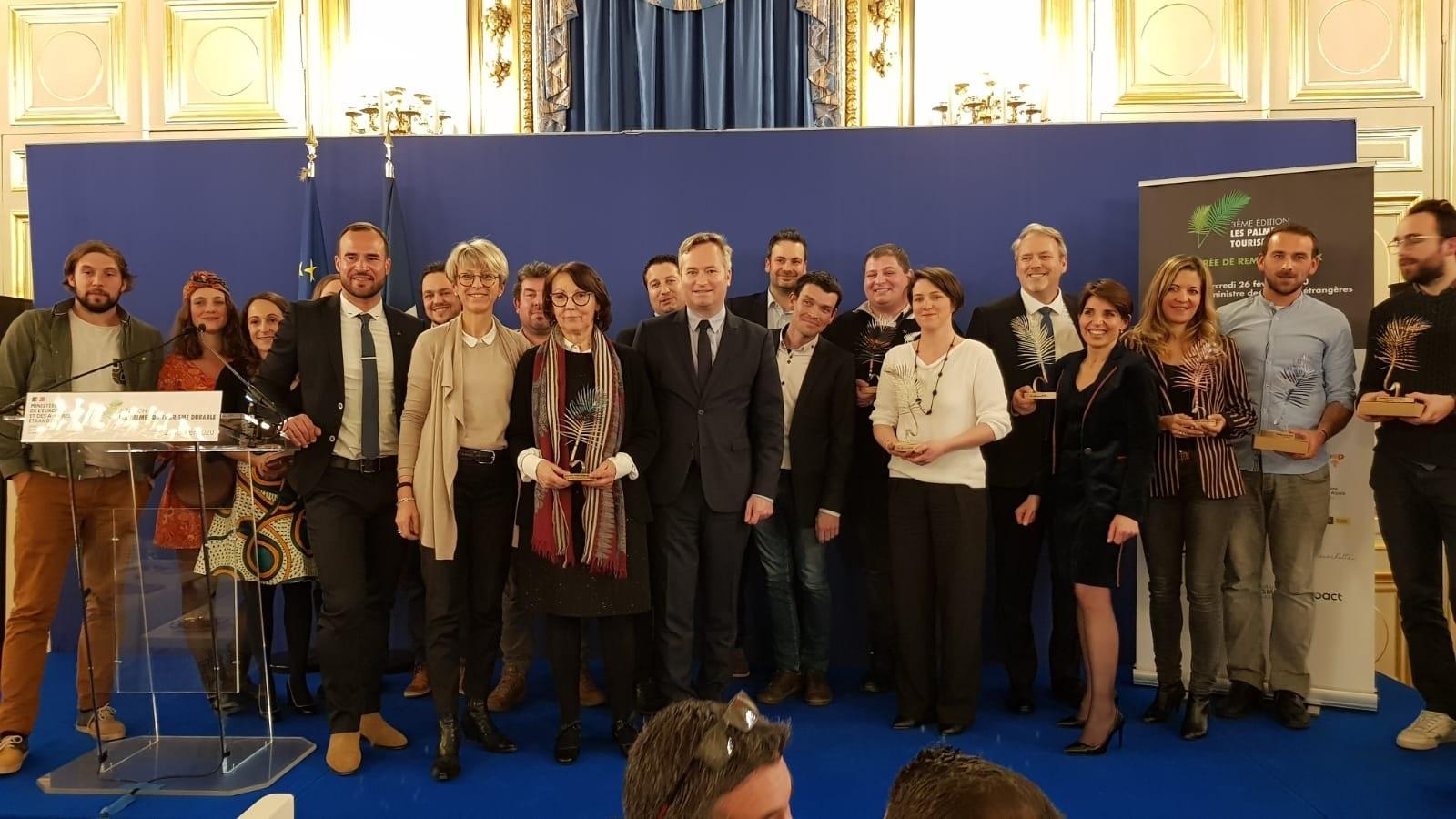 Les Lauréats de la 3e édition des Palmes du Tourisme Durable autour de Jean-Baptiste Lemoyne - Photo CE